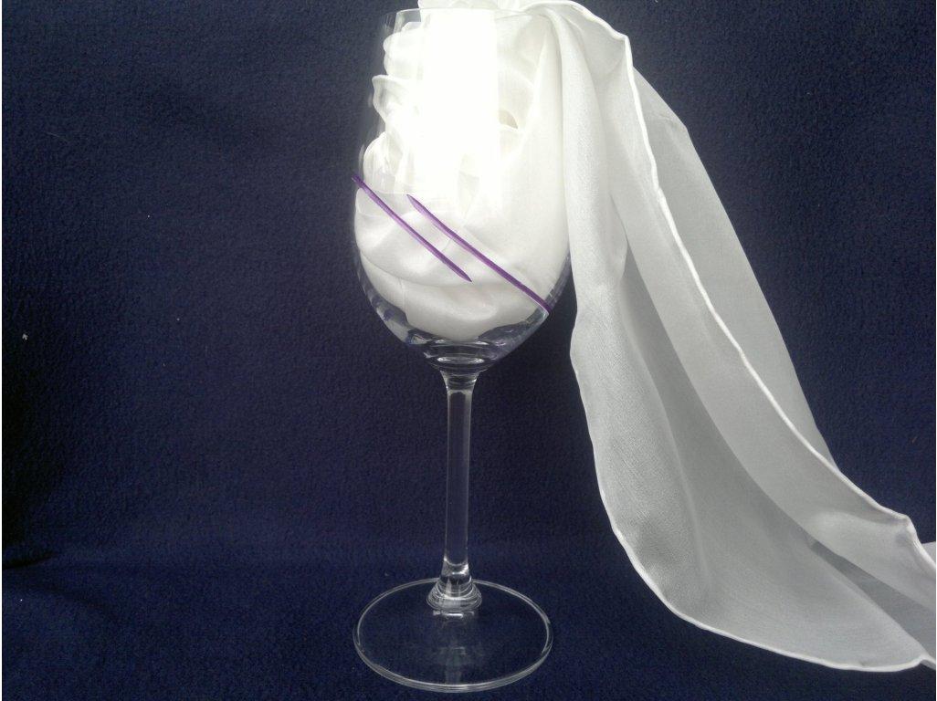 Ručně broušená a malovaná sklenice - fialová