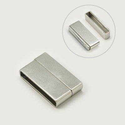 304 -  magnetické zapínání obdélní 22x13x4,5mm - chirurgická ocel