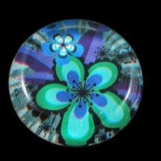 Kabošon pr. 33 mm, kytka - sklo
