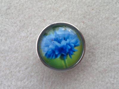 Kabocvok pr. 18 mm, kytka modrá - motiv 44