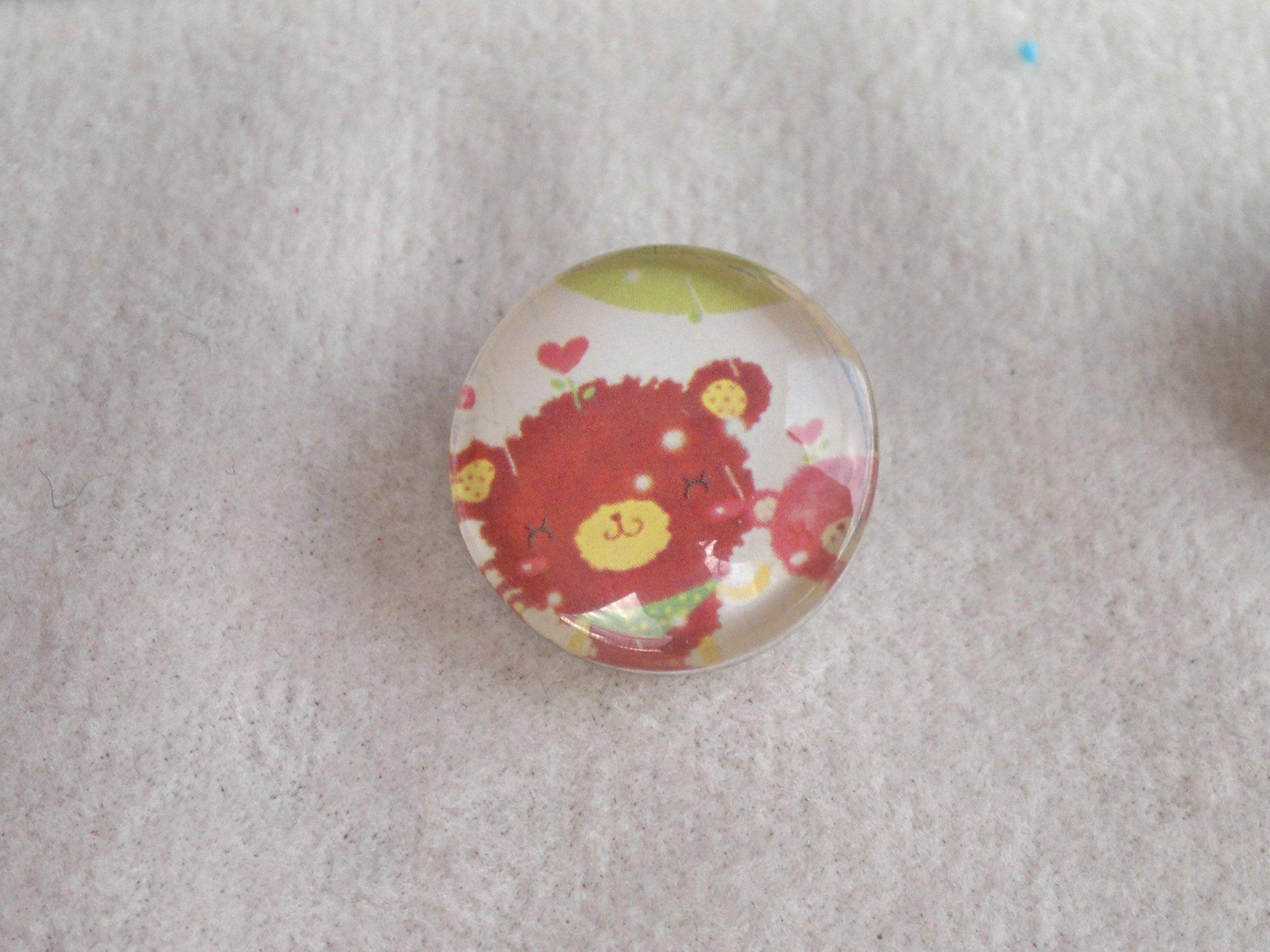 Kabocvok pr. 18 mm,chlupatý medvídek - motiv 33