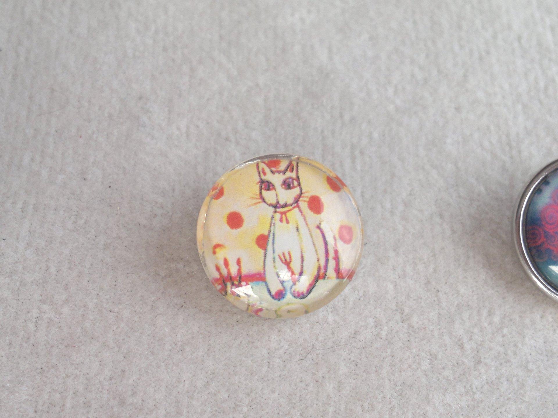 Kabocvok pr. 18 mm, kočka s puntíky - motiv 29