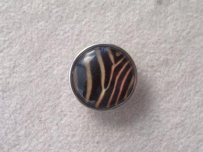 Kabocvok pr. 18 mm, zebra - motiv 3