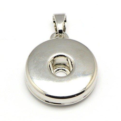 Přívěsek pro kabocvok pr. 19 mm platina kov 19 mm 5-6 mm 5 mm