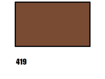 Barva na hedvábí, hnědá - 419