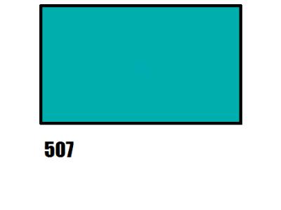 Barva na hedvábí, tyrkysové modrá, 507