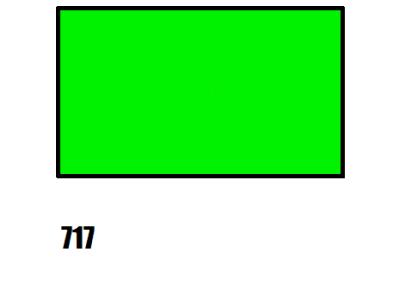 Barva na hedvábí, zelená - 717