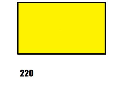 Barva na hedvábí, středně žlutá, 220 žlutá