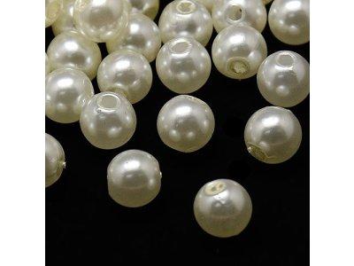 Vosková perle, krémová - 6 mm krémová 1,5 mm kulička