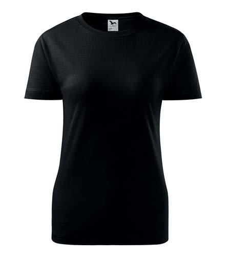 Tričko klasické dámské - černé