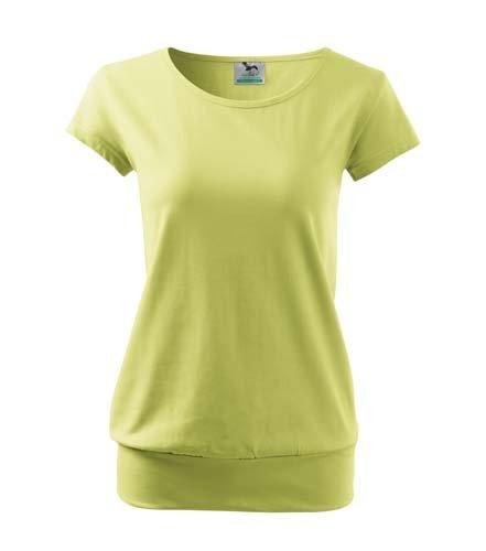Tričko dámské city - jemná zelená