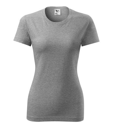 Tričko klasické dámské - šedý melír L