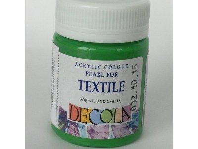 Barva textilní DECOLA - zelená perleť