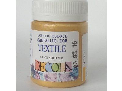 Barva textilní DECOLA - zlatá