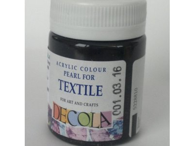 Barva textilní DECOLA - černá perleť