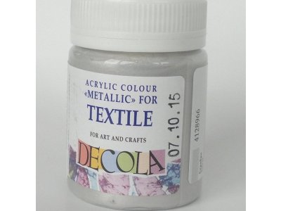Barva textilní DECOLA - stříbrná