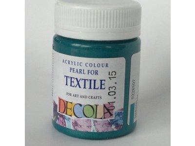 Barva textilní DECOLA - tyrkysová perleť