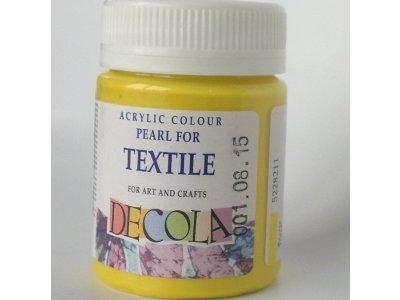 Barva textilní DECOLA - žlutá perleť