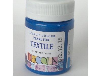 Barva textilní DECOLA - modrá perleť