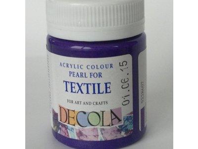 Barva textilní DECOLA - fialová perleť