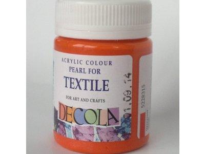 Barva textilní DECOLA - oranžová perleť