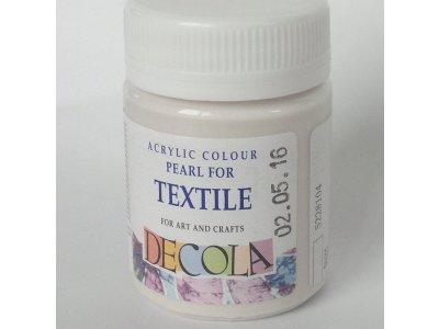 Barva textilní DECOLA - bílá perleť