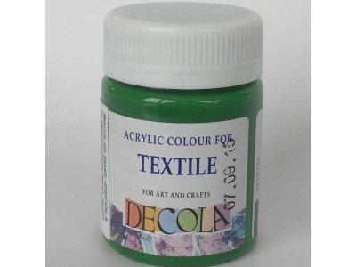 Barva textilní DECOLA - středně zelená