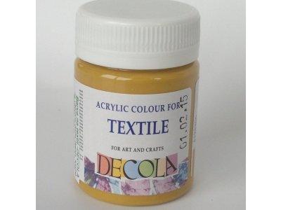 Barva textilní DECOLA - okrová
