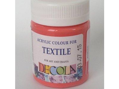 Barva textilní DECOLA - korálová