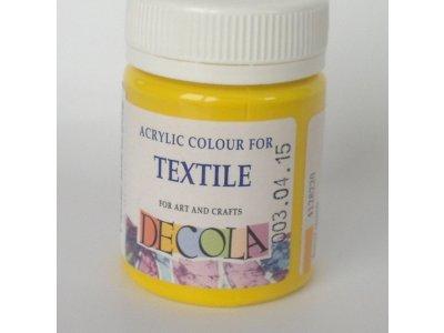 Barva textilní DECOLA - středně žlutá