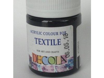 Barva textilní DECOLA - černá
