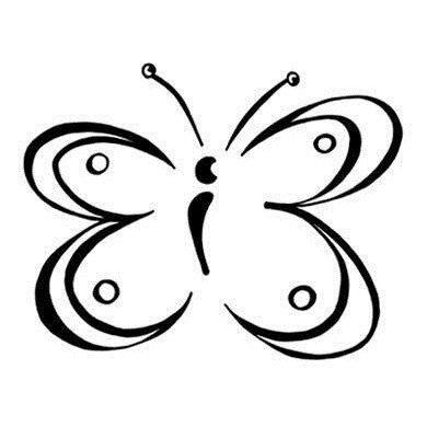 Dřevěné razítko motýl