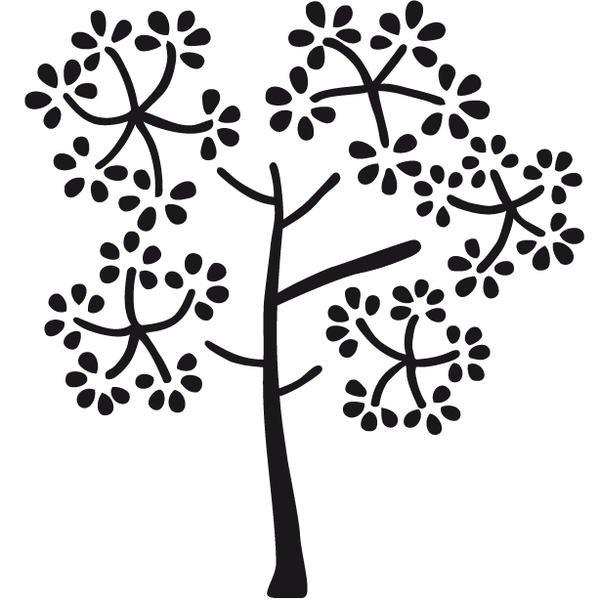Dřevěné razítko strom