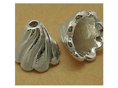 Kaplík sukýnka 12x13 mm, stříbrná 1,7 mm 12 mm 13 mm 10 mm