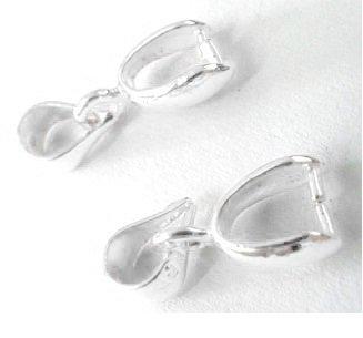 Šlupna velká - 20 mm, stříbrná stříbrná kov