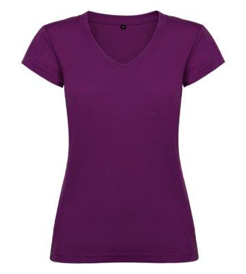 Tričko Viktoria, dámské - purpurová 100% bavlna