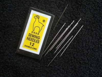 Jehly na perličky platina 40 mm 0,45 mm 0,3 mm