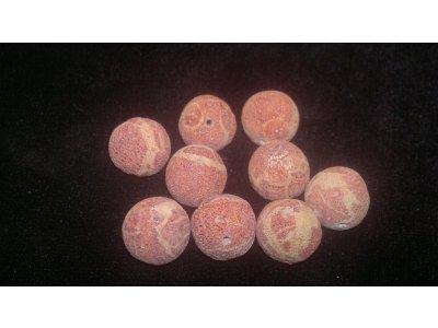 Houbový korál - pr. 13 mm červená korál 13 mm 1 mm kulička