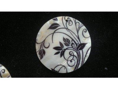 Silná perleť 50 mm - motiv 11 perleť 50 mm 1,5 mm bílá/černá