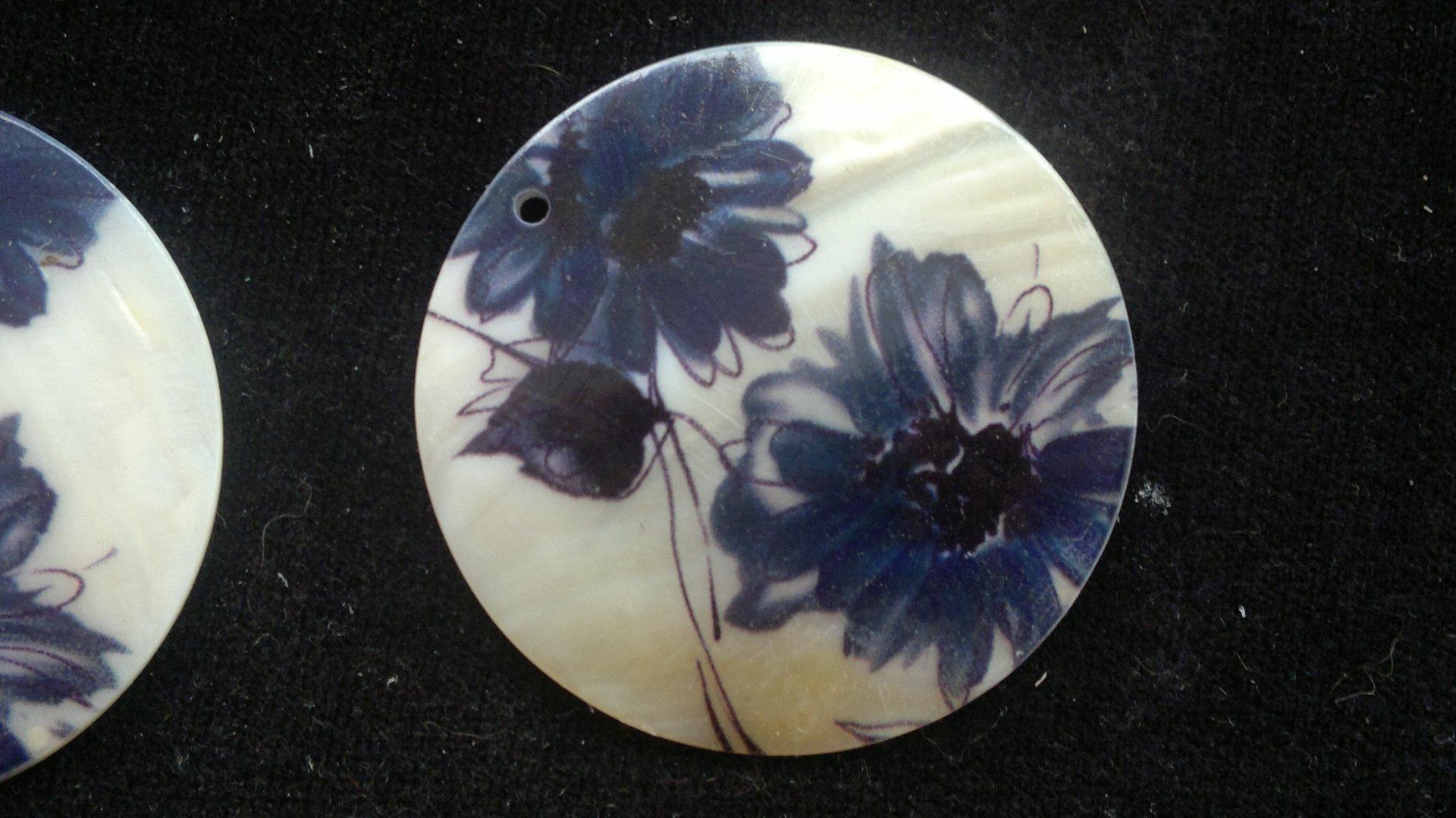 Silná perleť 50 mm - motiv 12 perleť 50 mm 1,5 mm bílá/modrošedá/černá