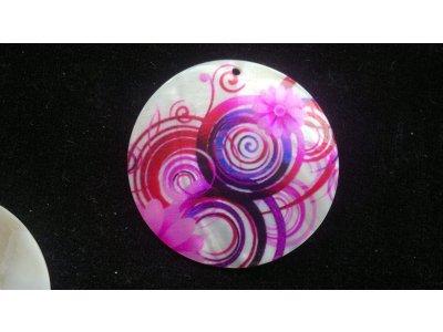 Silná perleť 50 mm - motiv 6 perleť bílá/růžová/fialová/černá/červená 50 mm 1,5 mm