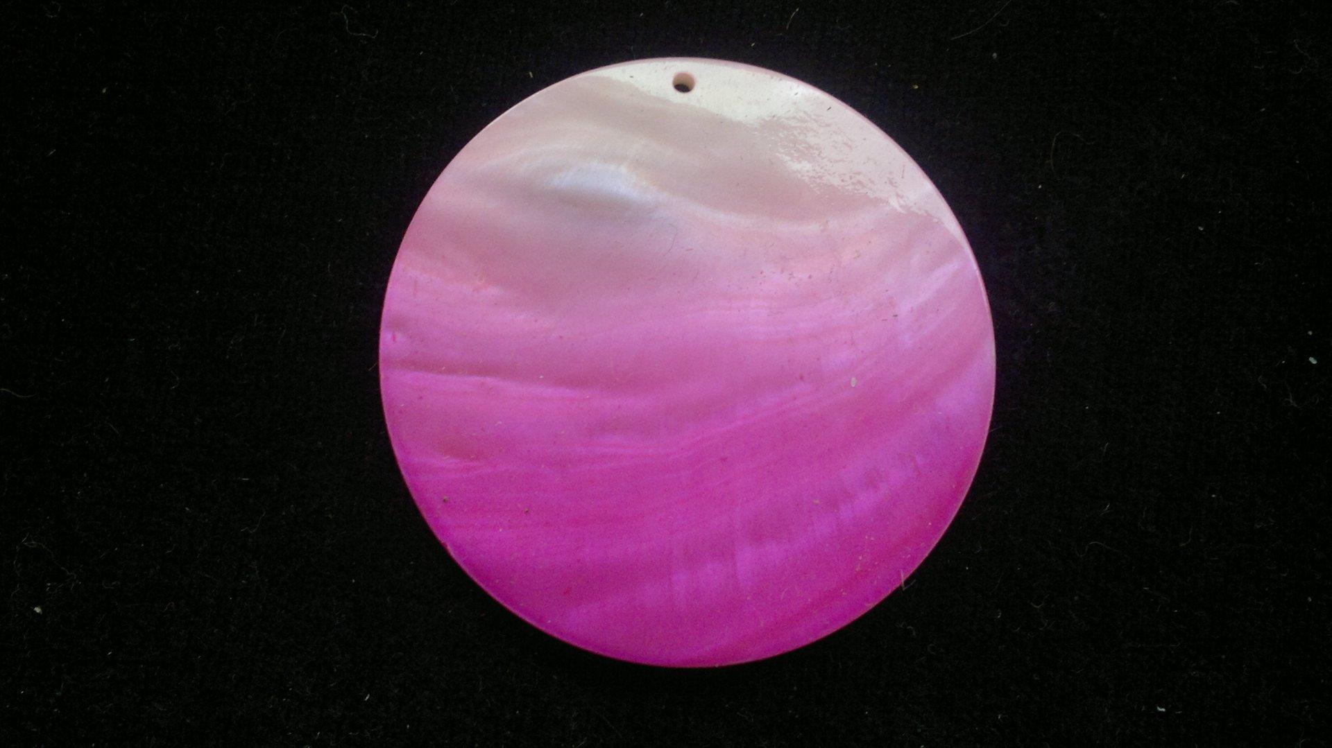 Silná perleť 50 mm - motiv 5 bílá/růžová perleť 50 mm 1,5 mm