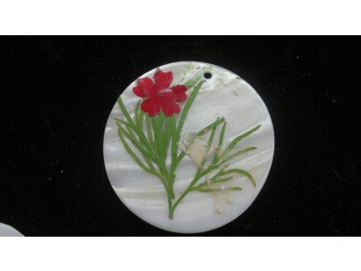 Silná perleť 50 mm - motiv 2 50 mm 1,2 mm perleť bílá/zelená/červená