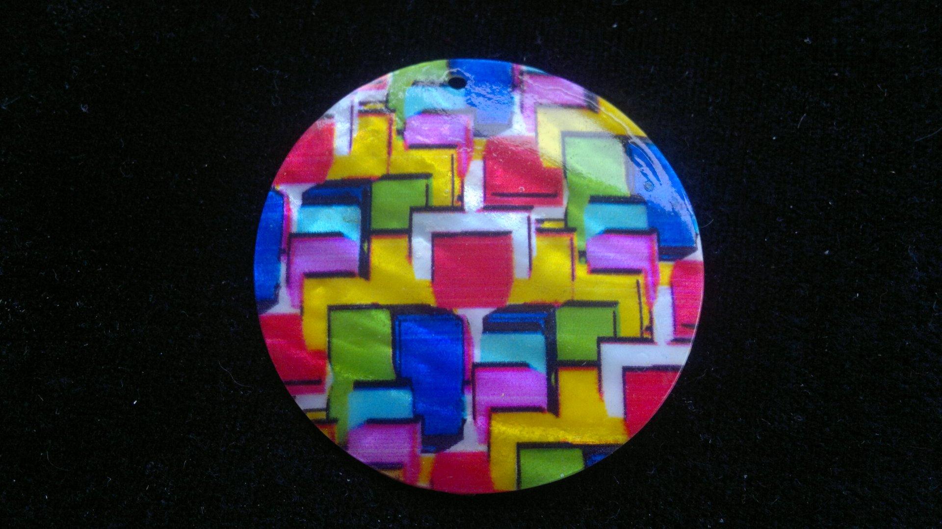 Silná perleť 50 mm - motiv 1 perleť 50 mm 1,2 mm