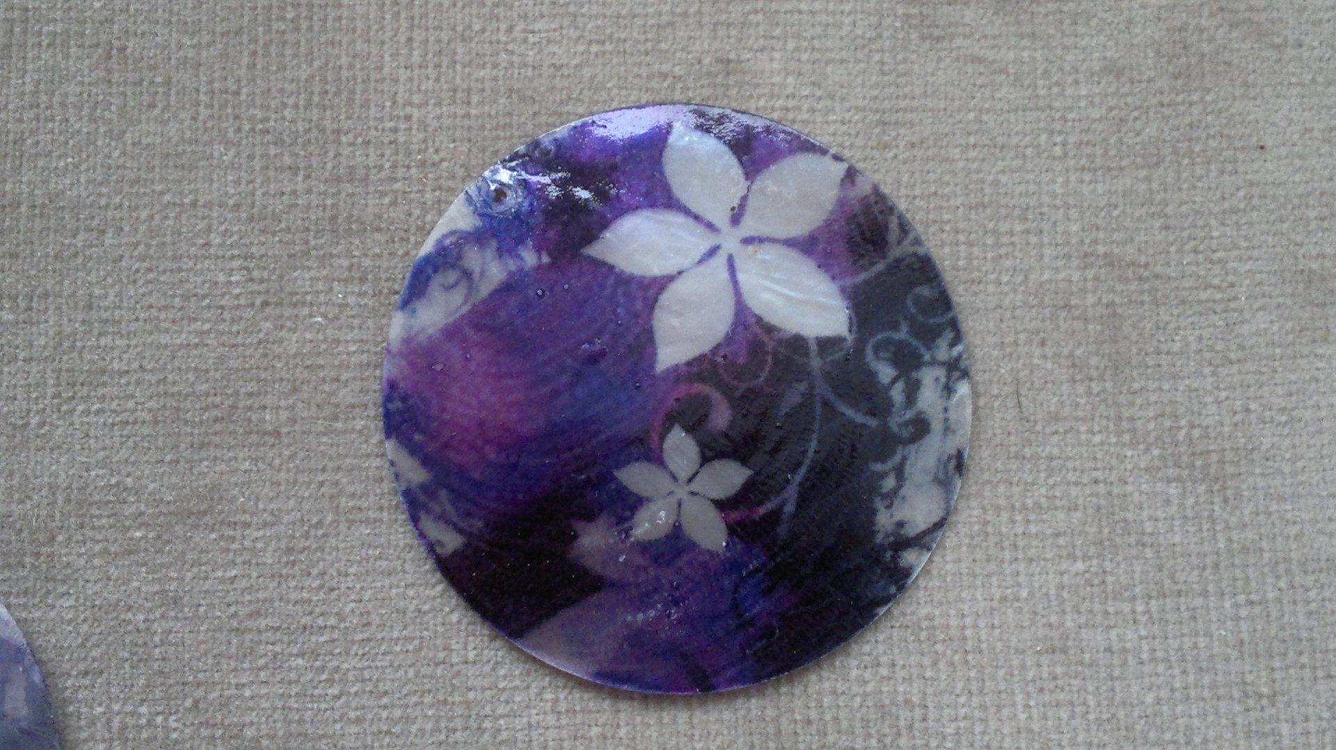 Slída 50 mm - motiv 13 perleť 50 mm 1,2 mm bílá/černá/fialová