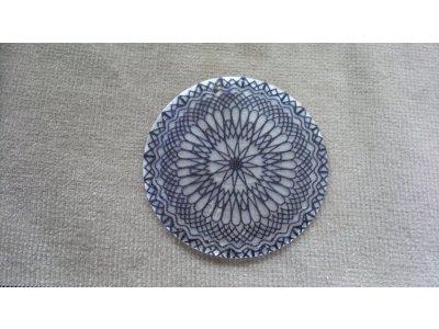 Slída 50 mm - motiv 9 perleť 50 mm 1,2 mm bílá/černá