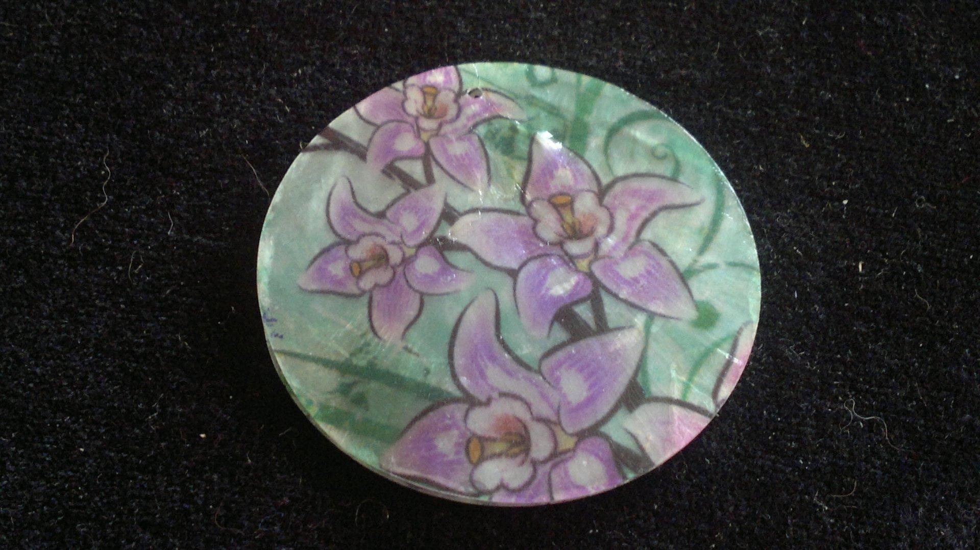 Slída 50 mm - motiv 8 perleť 1,2 mm 50 mm bílá/fialová/zelená
