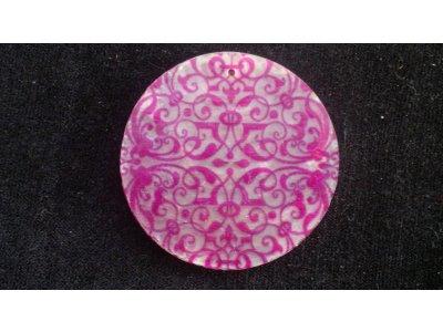 Slída 50 mm - motiv 1 perleť bílá/růžová 50 mm 1,3 mm