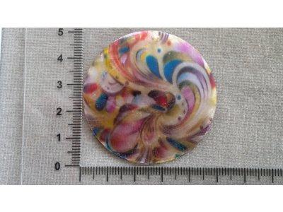 Slída 50 mm - motiv 3 perleť 50 mm bílá/duha 1,2 mm