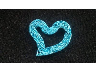 Srdce modré 22 x 27 mm modrá bronz 27 mm 22 mm 4 mm